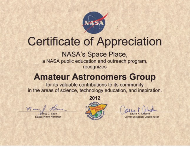 welcome to the amateur astronomers group